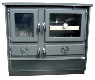 Wood/Coal Burning Cook Stove MAGNUM Black