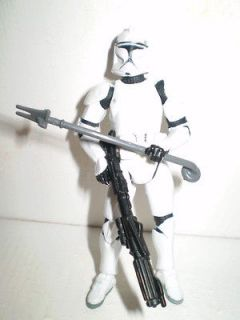 Clone Trooper with Rifle and Force Pike Star Wars Action Figure 2003