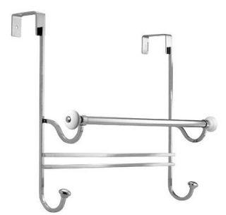 Over the Door Smart solution bathroom Door Towel Rack Hanger Holder