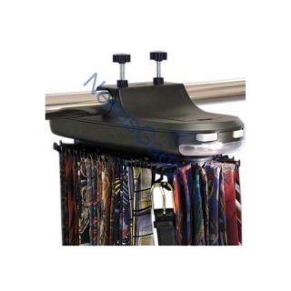 Motorized Tie, Belt Rack Holder for Closet Rods w/ LED Light Organizer