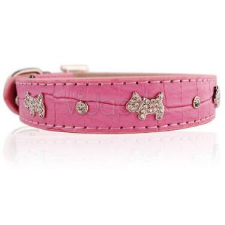 large dog collar pink in Collars & Tags