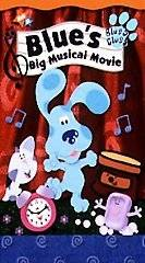 BLUES CLUES BIG MUSICAL MOVIE VHS VIDEO CLAMSHELL