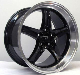 Black Deep Dish Mustang ® Cobra R Wheels 18x9 &10 inch 1994 2004 18