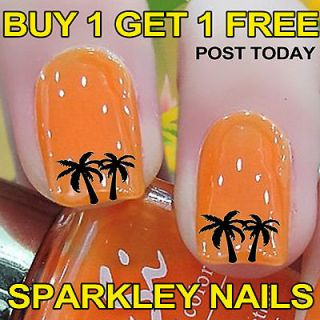 Palm Tree Nail Art Decals Stickers Water Transfer False/Natural nails