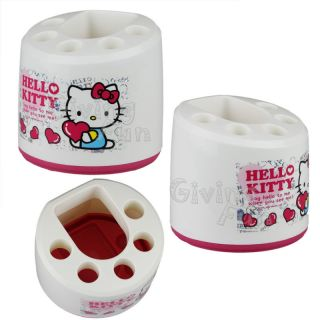 Sanrio Hello Kitty TOOTH BRUSH Rack Bathroom Accessory Stand Holder