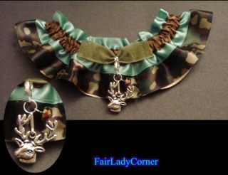 Camo sage 1 wedding bridal garter prom party gothic gift favor select