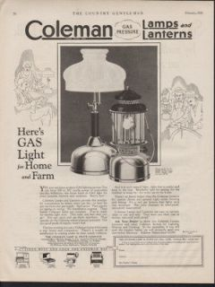 FA 1928 COLEMAN STOVE GAS LIGHT LAMP LANTERN FAMILY HOUSE