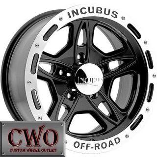15 Black Off Road Wheels Rims 6x139.7 6 Lug Sierra Titan Tundra GMC