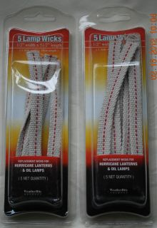 Hurricane Lantern Wicks for Kerosene Lanterns 2 Packs for a Total of