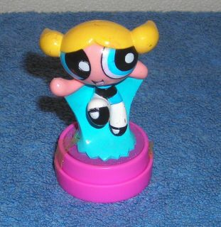 CARTOON NETWORK POWERPUFF GIRLS BUBBLES 3 TOY FIGURE STAMP