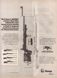 1980 SAVAGE AD ANSCHUTZ 1413 SUPER MATCH TARGET RIFLE