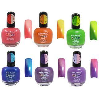 Mia Secret Mood Color Change Nail Polish Lot # 1 ( 6 Different Colors)