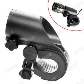 Bicycle Flashlight LED Torch Light Holder Grip Mount Bike Clamp Clip