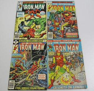 Classic Marvel Comic the Invincible Iron Man Lot #45, #98, #105, #133