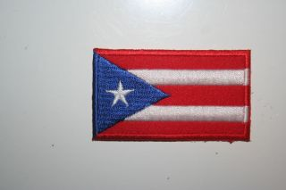 PUERTO RICO FLAG SMALL IRON ON PATCH CREST BADGE