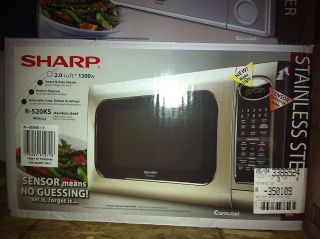 SHARP R 520KS STAINLESS STEEL MICROWAVE OVEN 1200W 2.0