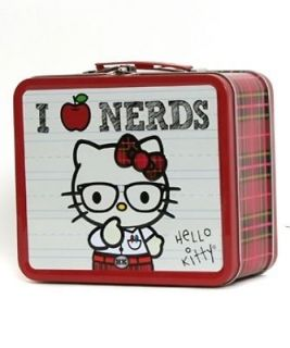 Hello Kitty I Love Nerds Metal Lunchbox Lunch Box