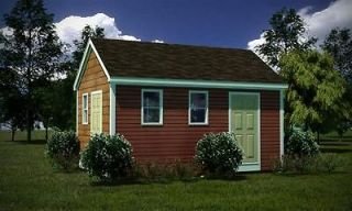 12 x 18 Storage Shed Plans Gable Roof Step By Step How To Build Guide