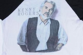 Kenny Rogers The 86 Tour ¾ Sleeve Country Concert T Shirt Size M