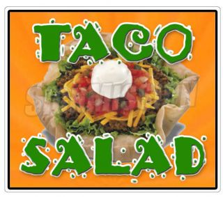 TACO SALAD Concession Decal mexican food menu cart trailer stand