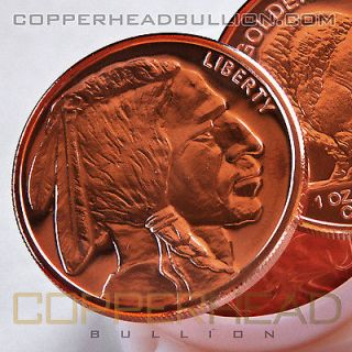 of (20) 1oz Indian Head Buffalo Copper Coins .999 Pure Bullion Rounds