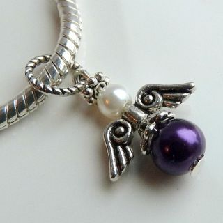 pandora purple charms in Fashion Jewelry