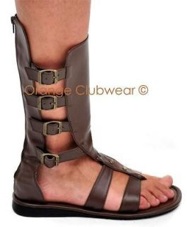 Mens Spartan Roman Gladiator Halloween Costume Shoes