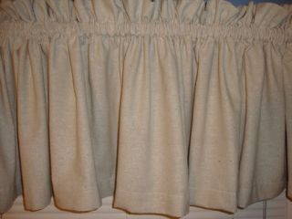 Primitive Country Muslin Valance Curtain New Extra Wide