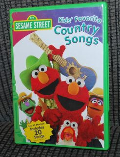 Movie DVD Video 123 Sesame Street Kids Favorite Country Songs 20