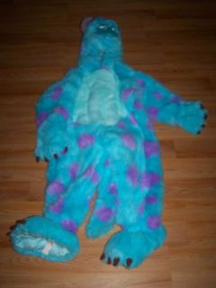 Monsters Inc Plush Sully Sulley Halloween Costume EUC