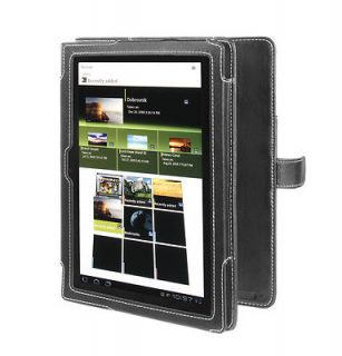 Cover Up Sony Tablet S (9.4 Inch) Book Style Black Leather Case