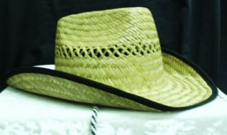 Halloween Costume Straw or White Felt Cowboy Cowgirl Western Hats~New