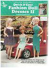 ATTIC QUICK & EASY FASHION DOLL DRESSES 2 THREAD CROCHET RARE OOP NEW