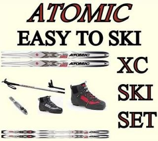EASY TO SKI ATOMIC WAXLESS CLASSIC XCRUISE 55 CROSS COUNTRY SKIS XC