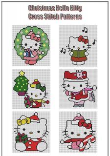hello kitty cross stitch pattern in Characters