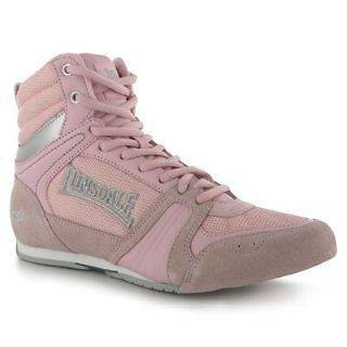 Storm Leather Ladies Womens Pink Boxing Boots Shoes Girls Training New