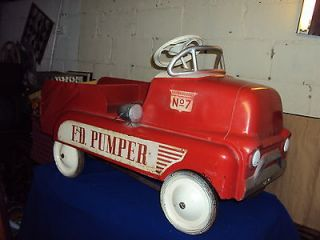 AMF BMC Cabover COE Pedal Car / Fire Truck 50s