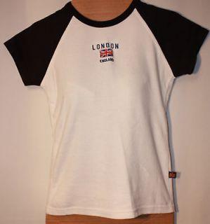 Juniors GWCC London England Flag Baseball Cap Sleeve Tee Shirt   36 M