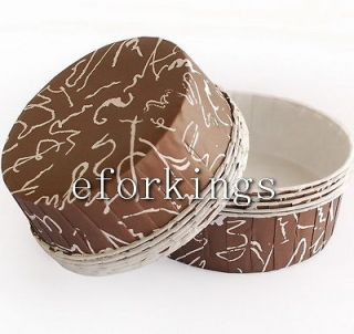 PIE BREAD CAKE CUPCAKE LINERS BAKING PAPER CUP MUFFIN CASES Brown