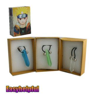 FIRST HOKAGE TSUNADE CRYSTAL NECKLACE Green/White/Bl​ue Cosplay