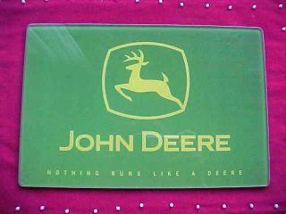 John Deere Glass Cutting Board Deer Logo NEW IN BOX  TO