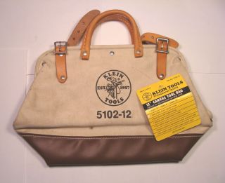 NOS Klein Tools USA Canvas Cabinetmakers Electricians Tool Bag No