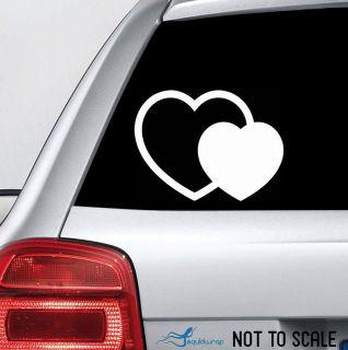Heart Love Princess Girly Cute Car Decal / Laptop Sticker   WHITE 4