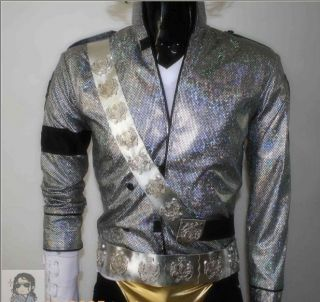 Michael Jackson Bucharest Jam Costumes jacket+aiguill​ette+belt+armb