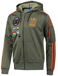 ADIDAS STAR WARS REBEL XWING MILITARY HOODED JACKET XXL