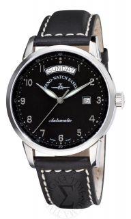 Zeno Mens Magellano Black Strap Automatic Day Date Watch 6069DD C1