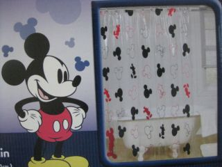 NEW DISNEY MICKEY MOUSE HEADS VINYL SHOWER CURTAIN NEW