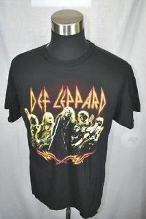 DEF LEPPARD SUMMER 2009 concert rock tour black short sleeve t shirt L