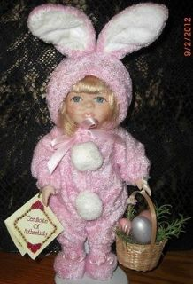 DOLL   PORCELAINE Dan Dee Collectors Choice Easter Bunny