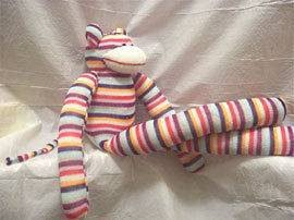 large sock monkey in Stuffed Animals